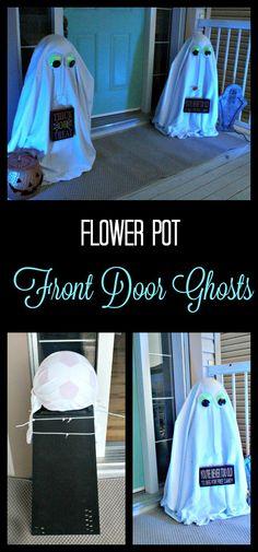 DIY Halloween yard decorations, DIY Halloween porch decorations, Halloween Porch decorations, Halloween front yard decorations, DIY Halloween ghosts