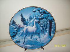 Snow Prance Diamond Unicorn plate