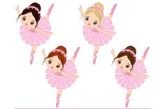 Vector Ballerina Clipart by LoveGraphicDesign on @creativemarket