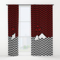 Twin Peaks. Minimalist Window Curtains by Dima_v. Worldwide shipping available at Society6.com. Just one of millions of high quality products available.