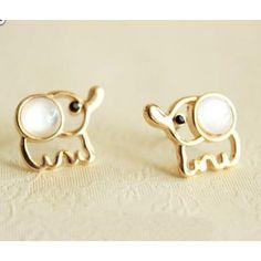 Cute Fashion Elephant Earrings. These are soo cute!!! <3