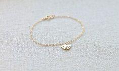 bird bracelet - gold or silver - dainty jewelry by fancy lemon