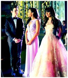 "Kurt, Santana and Rachel in Glee Season 4, Episode 20: ""Lights Out"""