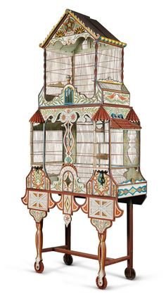 A Continental polychrome decorated bird house, late 19th century / Sotheby's