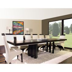 Verona Rectangular Extension Dining Table - Wenge - VERONA-W-DINTABLE