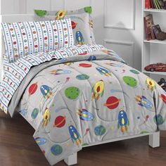 Space Rocket 5 Piece Bed in a Bag Set