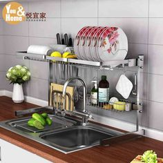 Sink Stand - will def buy later once  I collect enough items to justify shipping, looks so useful! 悦宜家304不锈钢厨房置物架碗架沥水架水槽放碗架碗碟架2层收纳架-tmall.com天猫