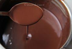 Sos de ciocolata - Desert De Casa - Mara Popa Chocolate Fondue, Tableware, Desserts, Food, Home, Tailgate Desserts, Dinnerware, Deserts, Tablewares