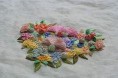 stump work, embroidery  입체자수, 프랑스자수,하트리스