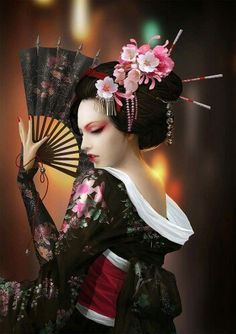 Geisha / Kimono / Traditional Asian Fashion / Photography / Chinese / Japanese / Woman / Cosplay // ♥ More at: https://www.pinterest.com/lDarkWonderland/