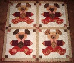 Linda's bear quilt for baby