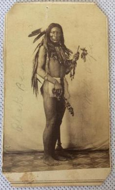 RARE~Orig.~C.L Hamilton~19thC~CDV~Photograph~Ft Randall~Native American Indian in Collectibles, Photographic Images, Vintage & Antique (Pre-1940), CDVs | eBay