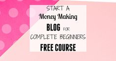 Are you thinking of starting a blog? Do you want to work from home and make money online? Then, you need this FREE course. Start a money making blog course will teach you how to start a profitable blog without any special skills.