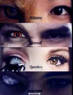 The human and the beast side of teen wolf characters. This is very similar to the other image of the eyes but i prefer this one as it does change the eye ...