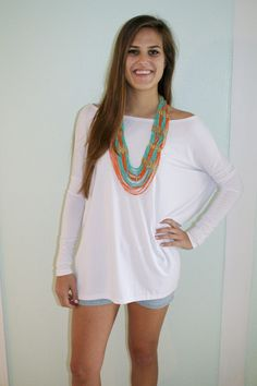 Pomp and Circumstance Boutique - PIKO Tee - White BACK IN STOCK + FREE SHIPPING!