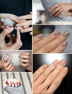 Neutral Matte Bare Nude Nails Manicure