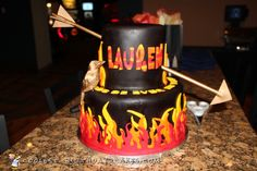 Catching Fire Mockingjay Hunger Games Cake... Coolest Birthday Cake Ideas