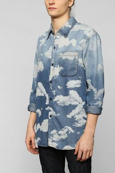 INSTED WE SMILE Cloud Denim Button-Down Shirt #urbanoutfitters