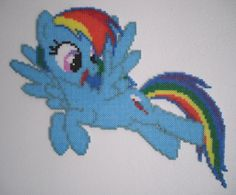 MLP Rainbow Dash Hama Mini Beads by Alex7190 on deviantART