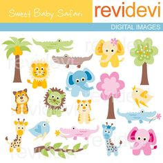 This baby animals bundle includes 1 pack of digital images, 1 pack of digital papers, and 1 pack of block designs. You will get safari animals such as lion, elephant, giraffe, tiger, crocodile, and more. These would be perfect for any craft creations such as for room decor, printable,