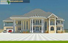 Stunning Modern Mansions – Modern Home House Plans Mansion, My House Plans, Bedroom House Plans, House Floor Plans, New Modern House, Modern Bungalow House, Modern Mansion, Classic House Design, Dream Home Design