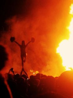 Baylor Homecoming Bonfire