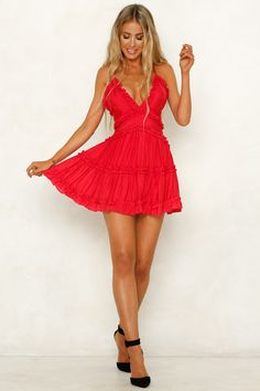We all make fashion mistakes but the Human Error Dress isn't one of 'em. It has a V neckline, thin adjustable crossover shoulder straps, an invisible back zip AND the sweetest frill trim. Tight Dresses, Club Dresses, Sexy Dresses, Evening Dresses, Short Dresses, Ladies Dresses, Clubbing Dresses, Party Dresses, Ruffle Dress