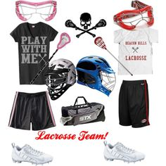 Lacrosse by quinniemalfoy on Polyvore featuring moda, NIKE, Reebok, C9 by Champion, Beacon and Warrior Lacrosse