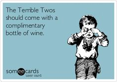 Terrible Twos, yes they should....all of parenthood should really