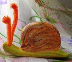 Air dry clay snails