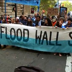 "Flood Wall Street: 100 Arrested at Sit-In Targeting Financial Giants' Role in Global Warming ""Because the world leaders meeting in New York City are listening to corporations &not people, we're taking it to where the power is .. "" longtime activist David Solnit told Democracy Now! at the FloodWallStreet action. http://www.democracynow.org/2014/9/23/flood_wall_street_100_arrested_at  See also: http://climate.nasa.gov/evidence/ http://www.pinterest.com/pin/533958099544362088/"