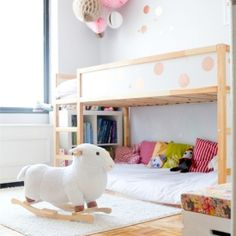 A sweet little girls' room filled with creative, DIY ideas that would be fun in any room of the house! (via this little street)