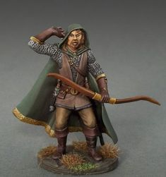Male Ranger with Bow - Easley Masterworks - Miniature Lines. Dark Sword Miniatures