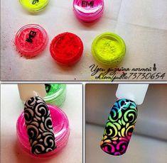 Glam Nails, Fancy Nails, Diy Nails, Nail Art Designs Videos, Cool Nail Designs, Nail Swag, Gradient Nails Tutorial, Food Nail Art, Queen Nails