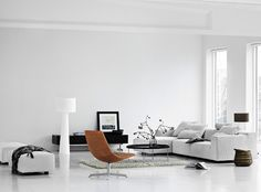#white good morden apartment style, major white, spot the furniture in alternative colors