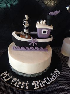 Steamboat Willie Cake