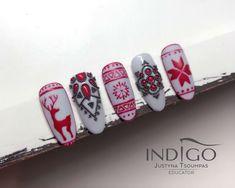 Christmas Gift Nails, Xmas Nail Art, 3d Christmas, Xmas Nails, Winter Nail Art, Holiday Nails, Winter Nails, Fall Nail Art Designs, Christmas Nail Designs