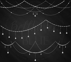 Chalkboard String Light Garland Clipart