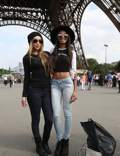 Justin Bieber's Former Girlfriend Chantel Jeffries And Ella-Paige Roberts Clarke Day Out In Paris