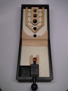 "Wooden Pinball Game 13 1 4""x 5 1 4"" | eBay"