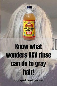 Grey Hair Care, Long Gray Hair, Silver Grey Hair, Curly Gray Hair, Short Silver Hair, Acv Hair, Hair Frizz, Hair Rinse, Grey Hair Problem
