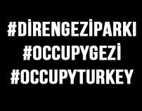 #occupyturkey Typography by Kudret Yavuz, via Behance
