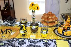 Bumble Bee Baby Shower Gender Reveal Party Ideas | Photo 24 of 30 | Catch My Party