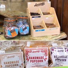 Haven't tried Annie B's yet? What are you waiting on? Grab a bag of popcorn or one of the mouthwatering caramels while you shop!  Annie B's was founded in 1978 by Tom & Carol Bouquet in Kellogg, MN. The couple enjoyed making caramels out of their kitchen and soon discovered they could make a living doing just that. They named their business after their daughter Annie.  A few years later, handcrafted popcorn was added to the products offered. What a hit!  While the original caramel is still…