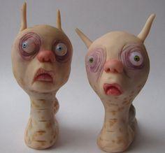 Garden snail clay sculpture ooak art doll by mealymonster on Etsy