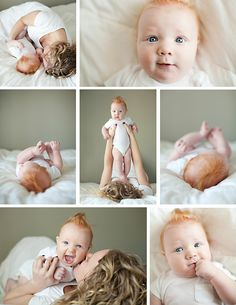 Cute little baby pictures from Kate Benson- love that it's captured in a natural setting.
