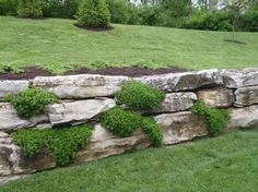 Image result for boulder meets timber retaining wall
