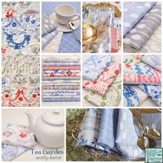 *** A lovely selection of fabrics you could easily transform into napkins, wall art etc.for a lovely kitchen or tea knook. Click to close image, click and drag to move. Use arrow keys for next and previous.