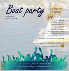 Primera fiesta en Barco 3 horas con mas grupos y temáticas con animación.