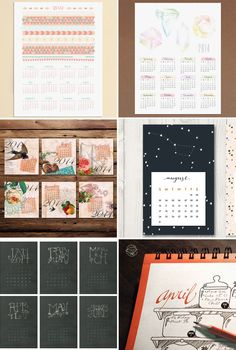 8 Printable 2014 Calendars + 50 Other Printables